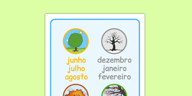 Months of the Year Word Mat Portuguese - portuguese, months, year, word mat, word, mat
