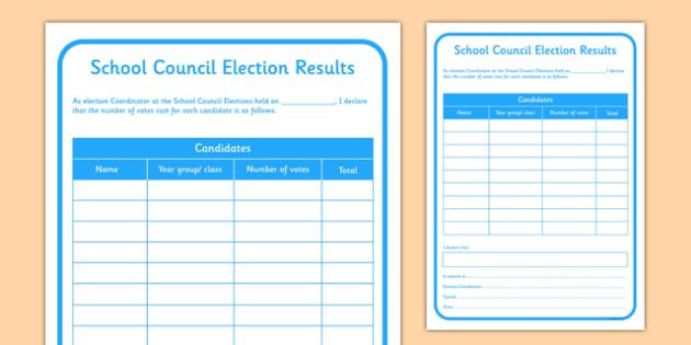 School Council Election Results - school council, election, SMSC