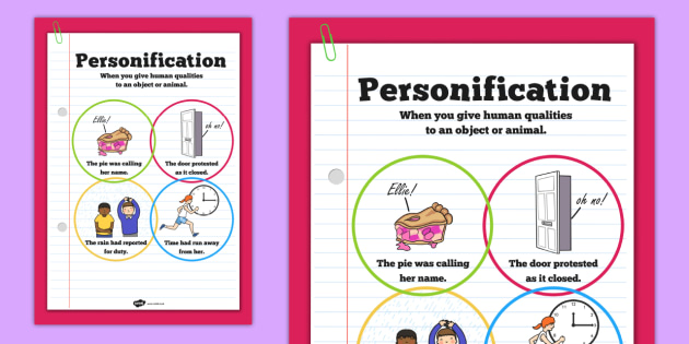 personification poster ks2 literacy display posters