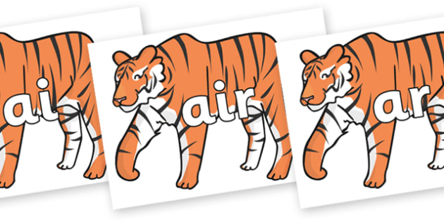 Phase 3 Phonemes on Chinese New Year Tiger - Phonemes, phoneme, Phase 3, Phase three, Foundation, Literacy, Letters and Sounds, DfES, display