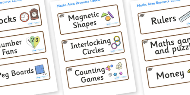 Badger Themed Editable Maths Area Resource Labels - Themed maths resource labels, maths area resources, Label template, Resource Label, Name Labels, Editable Labels, Drawer Labels, KS1 Labels, Foundation Labels, Foundation Stage Labels, Teaching Labe