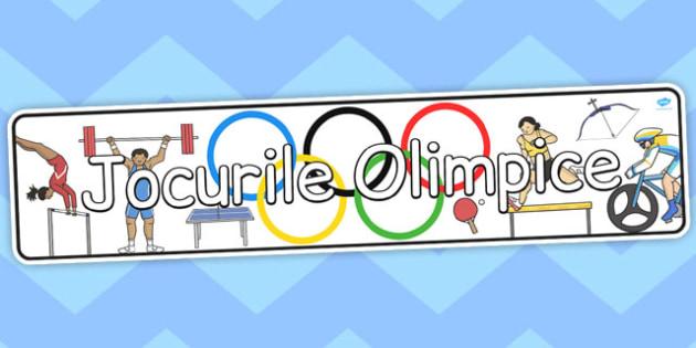 Jocurile Olimpice - Banner - jocurile olimpice, banner, imagini, de afișat, de perete, sport, materiale, materiale didactice, română, romana, material, material didactic