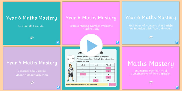 year 6 algebra maths mastery activities resource pack australia year 6. Black Bedroom Furniture Sets. Home Design Ideas