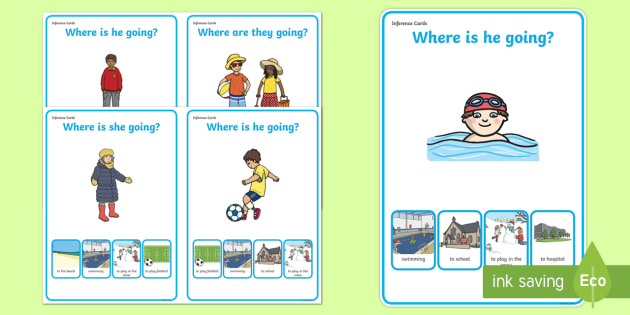 Where Are They Going? Making Inferences Worksheet / Activity