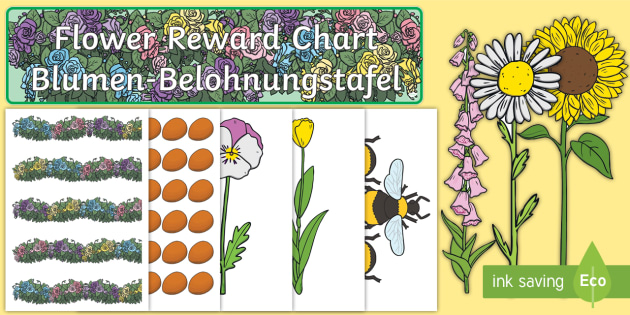 de t m 2226 flowers reward display pack english german ver 1