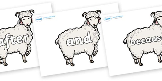 Connectives on Small Billy Goats - Connectives, VCOP, connective resources, connectives display words, connective displays