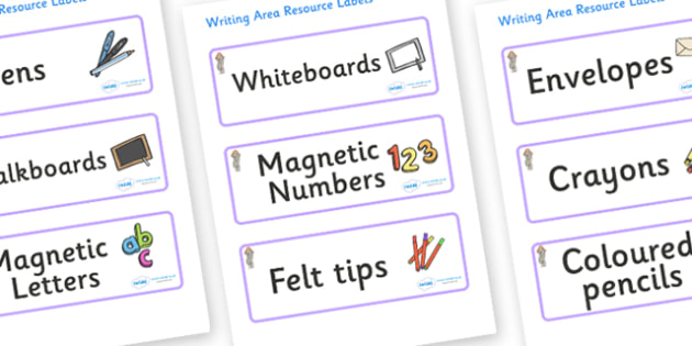 Selkie Themed Editable Writing Area Resource Labels - Themed writing resource labels, literacy area labels, writing area resources, Label template, Resource Label, Name Labels, Editable Labels, Drawer Labels, KS1 Labels, Foundation Labels, Foundation