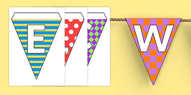 Welcome to Our Class Bunting Pretty Pattern Themed - bunting, display, pattern