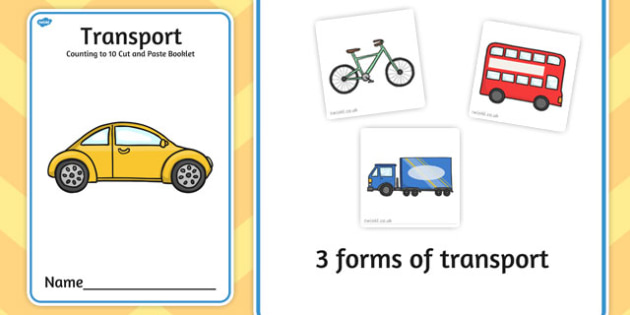 Transport Counting to 25 Cut and Paste Booklet - transport, count
