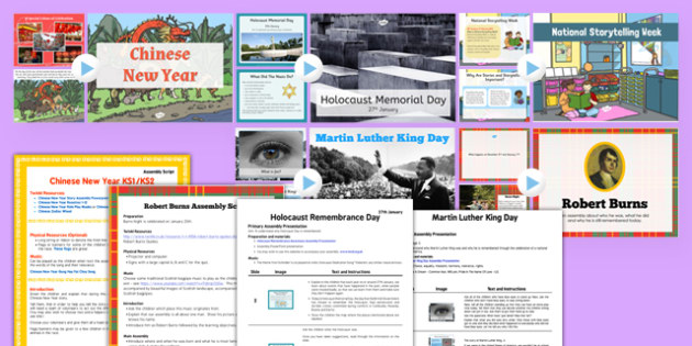 KS2 Spring Term 1 Assembly Bumper Pack - ks2, spring term 1, spring, term 1, assembly, bumper pack, pack