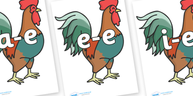 Modifying E Letters on Cockerels - Modifying E, letters, modify, Phase 5, Phase five, alternative spellings for phonemes, DfES letters and Sounds