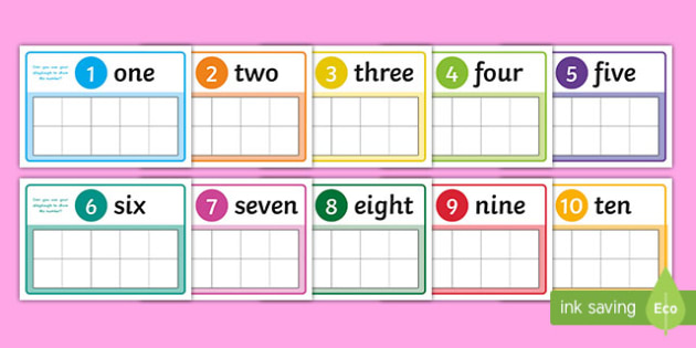 1 to 10 Ten-Frame Playdough Mat - 1 to 10, number, frame