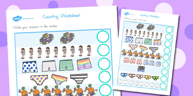 Counting Worksheet to Support Teaching on Aliens Love Underpants - australia, aliens