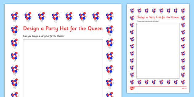 Design the queens party hat worksheet activity sheet design the queens party hat worksheet activity sheet worksheet freerunsca Image collections
