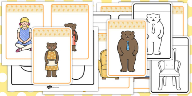 Goldilocks and the Three Bears Picture Cards - goldilocks, cards