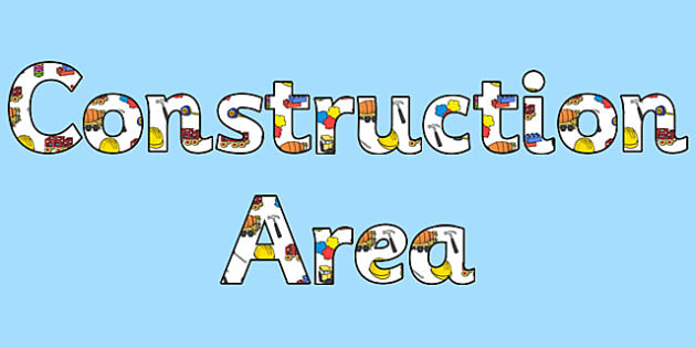 Construction Area Display Lettering - construction, letters, area