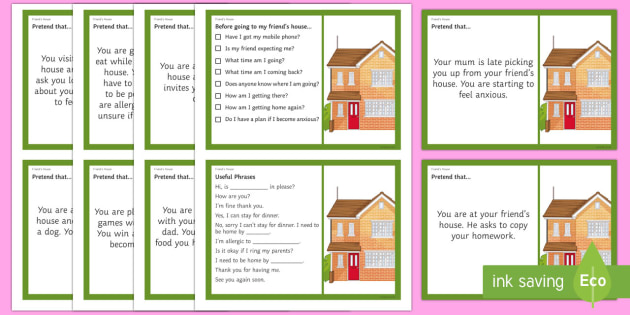Going to a Friend's House – Scenarios and Social Scripts