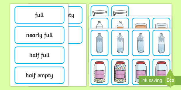 Capacity Matching Cards EYFS - capacity, maths, numeracy, matching cards, match, cards, eyfs