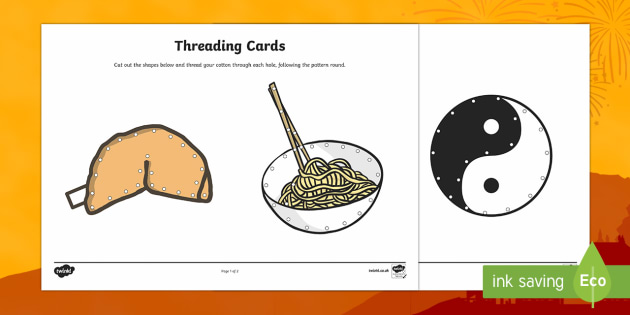 Chinese New Year Threading Cards