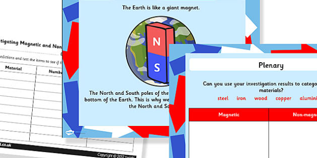 Magnetism Task Setter with Worksheets Powerpoint - magnetism