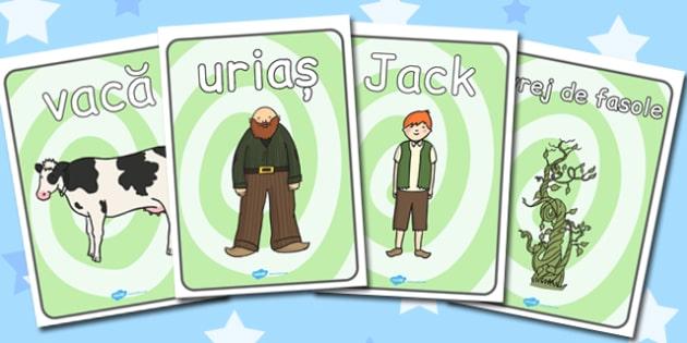 Jack și vrejul de fasole - Postere cu imagini și cuvinte