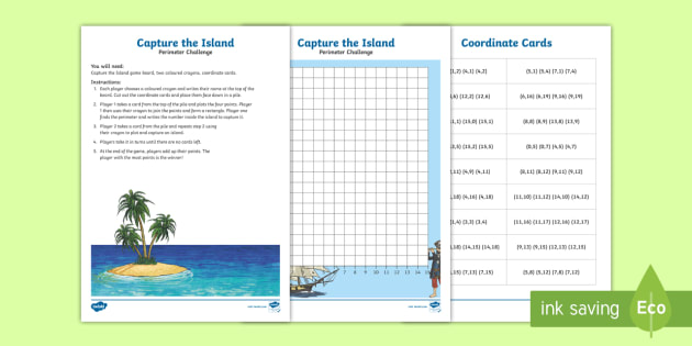 Coordinates and Perimeter Island Game - australia, island, game