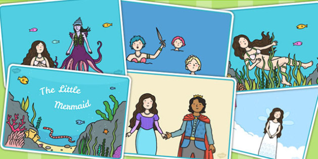 The Little Mermaid Story Sequencing - stories, sequence, books