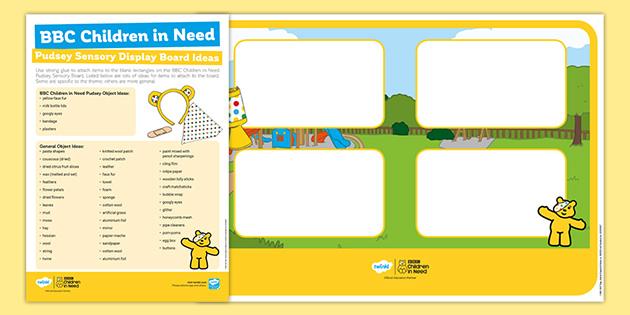 BBC Children in Need Sensory Board