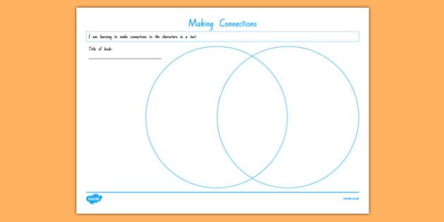 Making Connections Venn Diagram Worksheet Activity Sheet