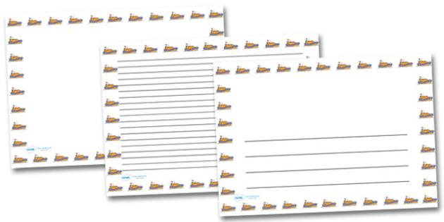 Life Boat Landscape Page Borders- Landscape Page Borders - Page border, border, writing template, writing aid, writing frame, a4 border, template, templates, landscape