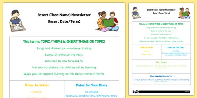 Childminder Editable Newsletter - Childminding newsletter