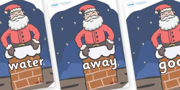 Next 200 Common Words on Santa (Chimney) - Next 200 Common Words on  - DfES Letters and Sounds, Letters and Sounds, Letters and sounds words, Common words, 200 common words