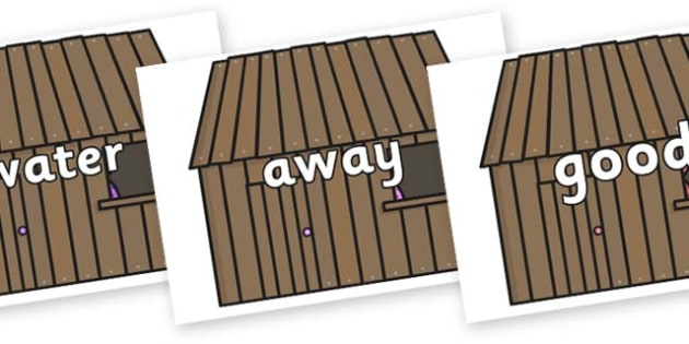 Next 200 Common Words on Wooden Houses - Next 200 Common Words on  - DfES Letters and Sounds, Letters and Sounds, Letters and sounds words, Common words, 200 common words