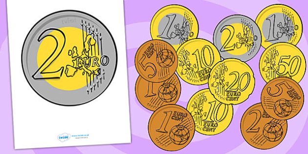 Euro Coin Display Posters - euro, coins, money, display posters