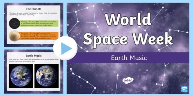 Earth Music Activity PowerPoint