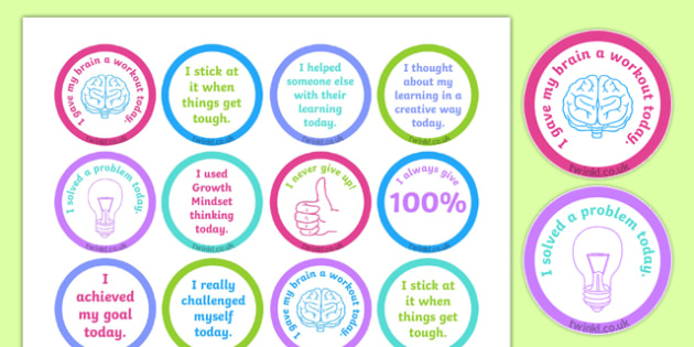 Growth Mindset Achievement Stickers-Australia