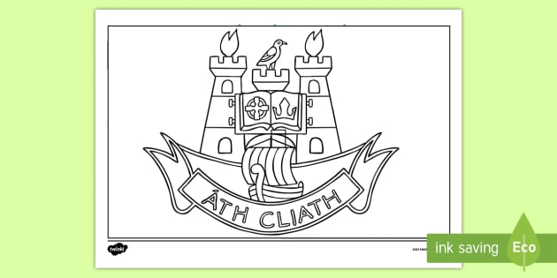 Dublin County Crest Colouring Page