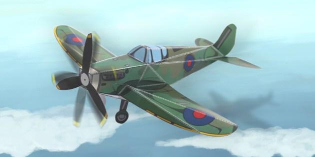 Spitfire Paper Model - Models, Activity, Activities, Crafts