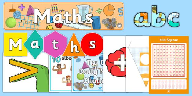 Top 10 KS1 Maths Display Resource Pack