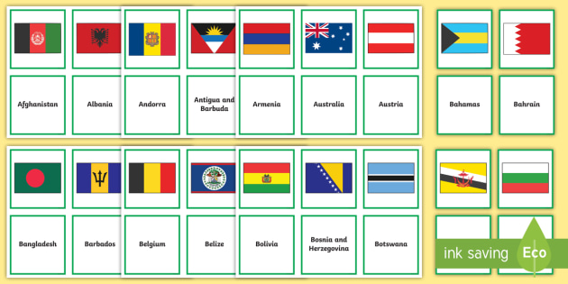 flags of the world matching activity flags world flags of