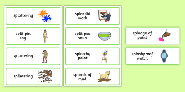 Three Syllable SPL Word Cards - speech sounds, phonology, articulation, speech therapy, cluster reduction, complex clusters, three element clusters