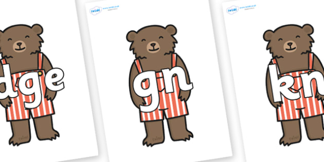 Silent Letters on Little Bear - Silent Letters, silent letter, letter blend, consonant, consonants, digraph, trigraph, A-Z letters, literacy, alphabet, letters, alternative sounds