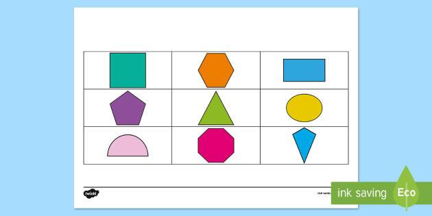 2D Shape Barrier Game - Barrier Games, EAL, speaking, listening, talking, describe,