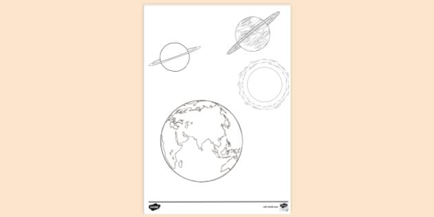 Free Printable Solar System Pages Colouring Sheets