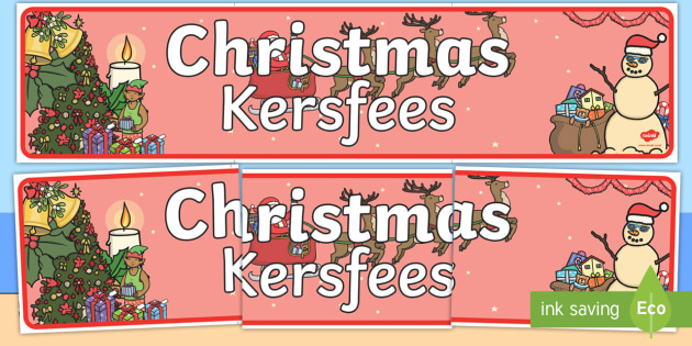 Christmas Display Banner English/Afrikaans - Christmas Display Banner - christmas, display banner, display, banner, banner for display, classroom