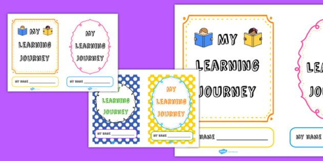 Book Cover Template Uk : My learning journey book cover