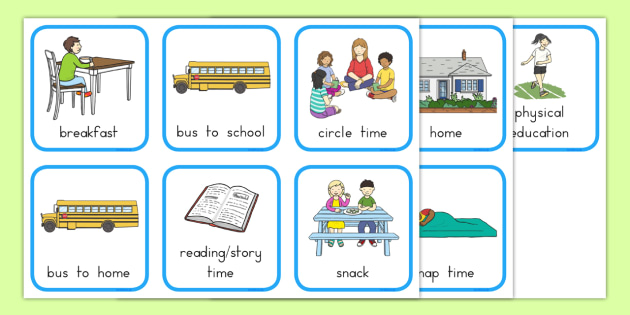 My First Day of School Went like This Story Sequencing Cards