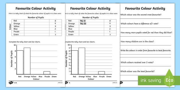 Favourite colour tally and bar chart worksheet activity sheets favourite colour tally and bar chart worksheet activity sheets tally chart worksheets bar pronofoot35fo Image collections