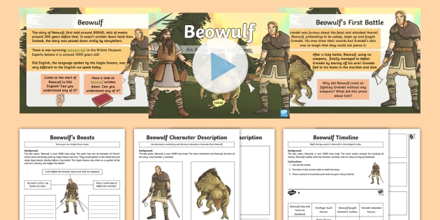 KS2 Beowulf PowerPoint Pack Legend Anglo Saxons Danes