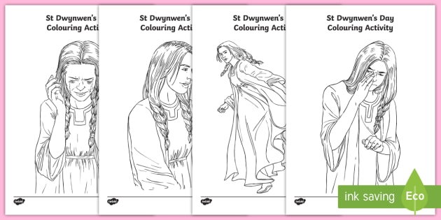 St Dwynwen Colouring Activity Colouring Page St Dwynwen St St Coloring Page